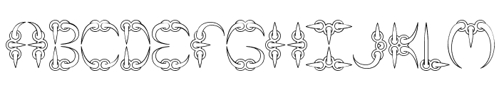 CLAW 1 -BRK- Font LOWERCASE