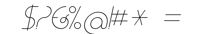CLiCHE 21 Italic Font OTHER CHARS