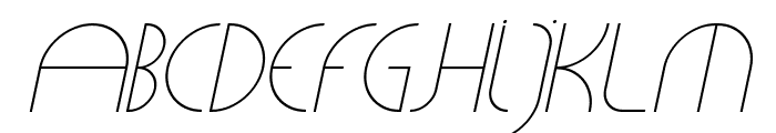 CLiCHE 21 Italic Font UPPERCASE