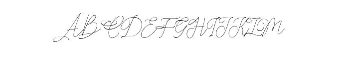 Claire Script Font UPPERCASE