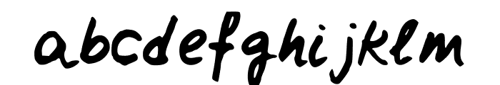 ClairesHand3 Font LOWERCASE