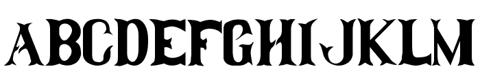 Clam-Dip Font UPPERCASE