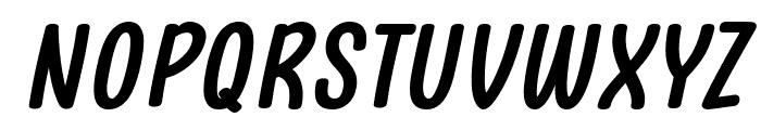 Clambake October Six Bold Italic Font UPPERCASE