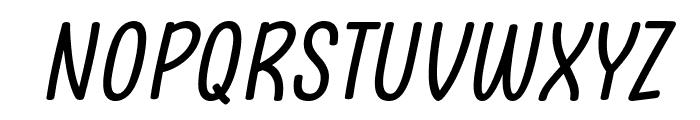 Clambake October Six Italic Font UPPERCASE