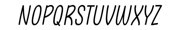 Clambake October Six Light Italic Font UPPERCASE