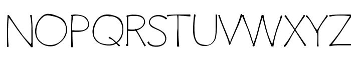 ClaphappyLight Font UPPERCASE