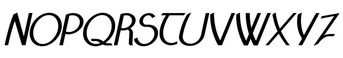 Claritty_BoldItalic Font UPPERCASE