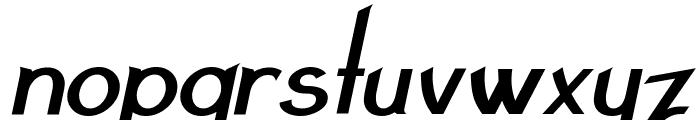 Claritty_BoldItalic Font LOWERCASE