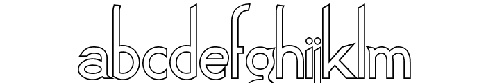 Claritty_Outline Font LOWERCASE