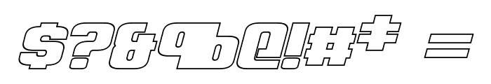 Clark Hollow Bold Italic Font OTHER CHARS