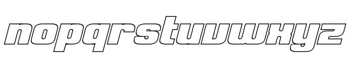 Clark Hollow Bold Italic Font LOWERCASE