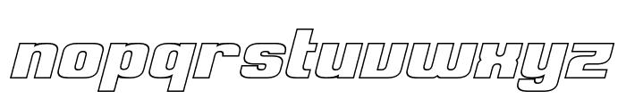 Clark Hollow Italic Font LOWERCASE