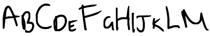 Clarkie 5 Font UPPERCASE