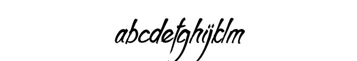 Clarraph Script Personal Use Regular Font LOWERCASE