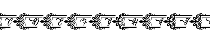 Clasicalderibbon Font UPPERCASE