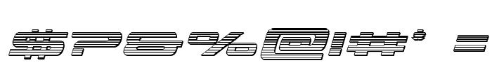 Classic Cobra Chrome Italic Font OTHER CHARS