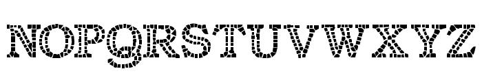 Classic Mosaic Font LOWERCASE