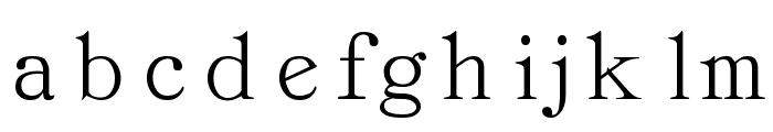 Classica-Roman Regular Font LOWERCASE