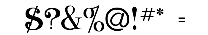 ClassicaHeavy Regular Font OTHER CHARS