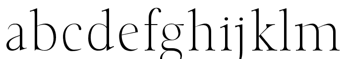 Classy Coiffeur Light Font LOWERCASE
