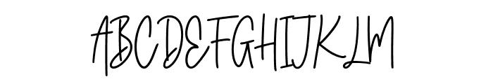 Classyday Font UPPERCASE