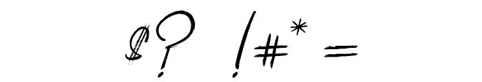 ClaudetteaimeleChocolat Font OTHER CHARS