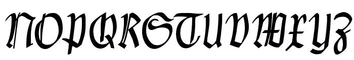 Clausewitz-Fraktur Font UPPERCASE