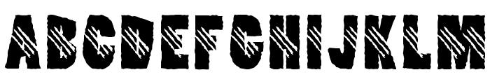 Clawripper Font UPPERCASE