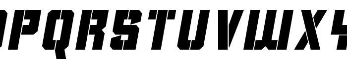 Clean Sports Stencil Font LOWERCASE