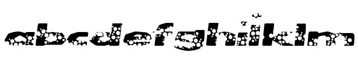 CleanBubbles Font LOWERCASE