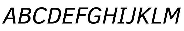 Clear Sans Italic Font UPPERCASE