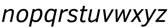 Clear Sans Italic Font LOWERCASE