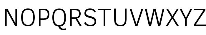 Clear Sans Light Font UPPERCASE