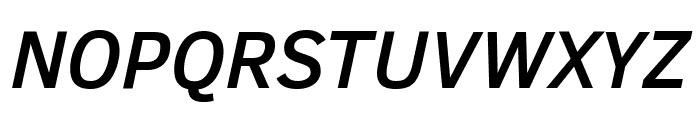 Clear Sans Medium Italic Font UPPERCASE