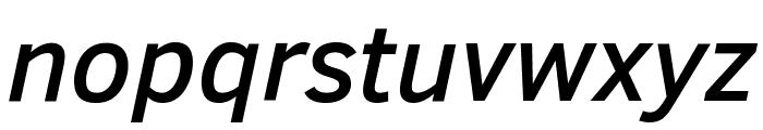 Clear Sans Medium Italic Font LOWERCASE