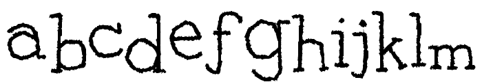 Clear Typewriter Font LOWERCASE