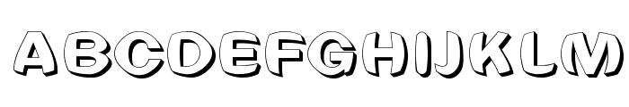 Clearblock circular - 3DFX Font UPPERCASE