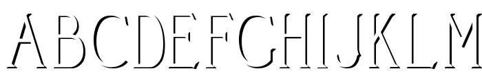 Cleaver's_Juvenia_Embossed Font UPPERCASE