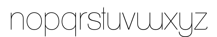 ClementePDaa-Hairline Font LOWERCASE