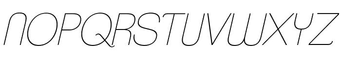 ClementePDab-HairlineItalic Font UPPERCASE