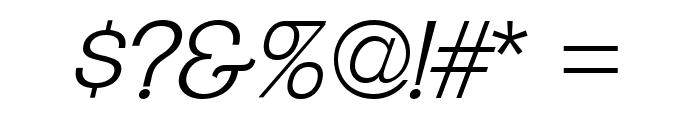 ClementePDaf-LightItalic Font OTHER CHARS