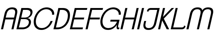 ClementePDaf-LightItalic Font UPPERCASE