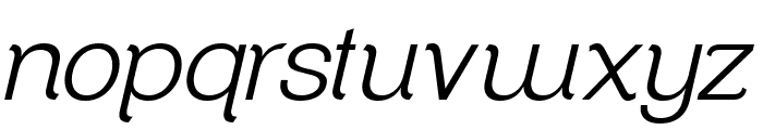 ClementePDaf-LightItalic Font LOWERCASE