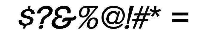 ClementePDaj-RegularItalic Font OTHER CHARS