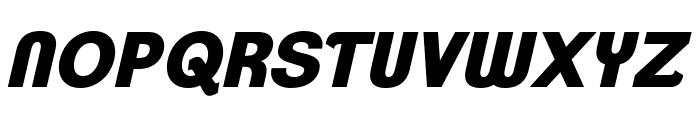 ClementePDap-HeavyItalic Font UPPERCASE