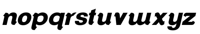 ClementePDap-HeavyItalic Font LOWERCASE