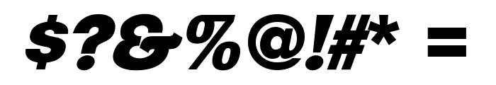 ClementePDar-UltraBoldItalic Font OTHER CHARS