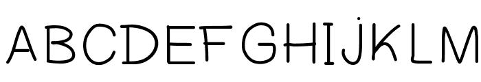 Clensey Font UPPERCASE