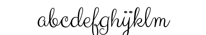 Clicker Script Font LOWERCASE