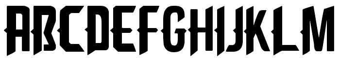 Cliff Edge Font UPPERCASE